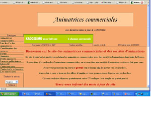 Site des animations commerciale, cv en ligne d'animatrices